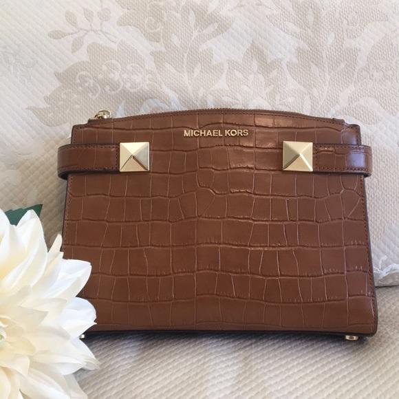 7982d79b080dc7 Michael Kors Bags   Karla Small Satchel Embossed Walnut   Poshmark